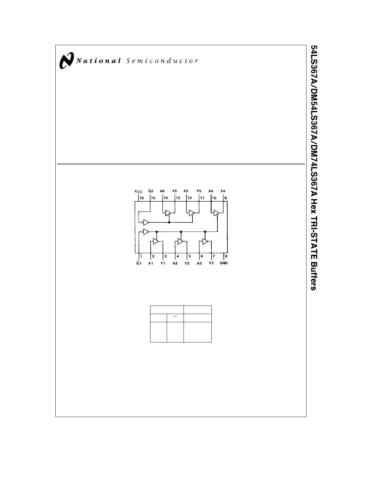 54LS367A Datasheet, 54LS367A PDF,ピン配置, 機能
