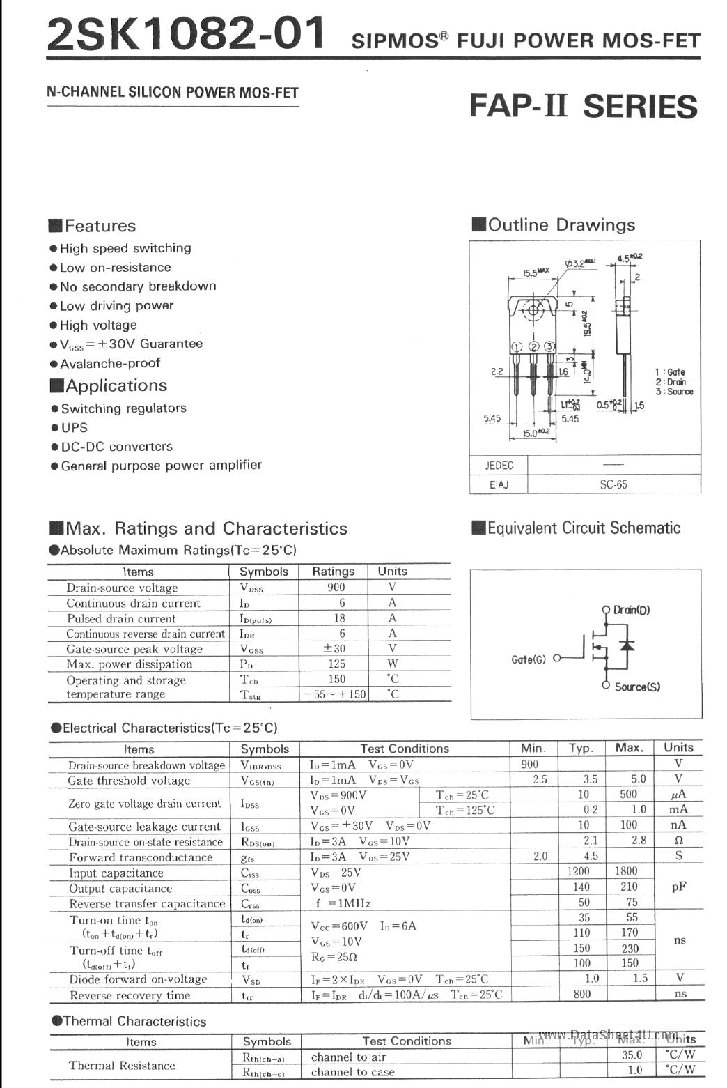 K1082 دیتاشیت PDF