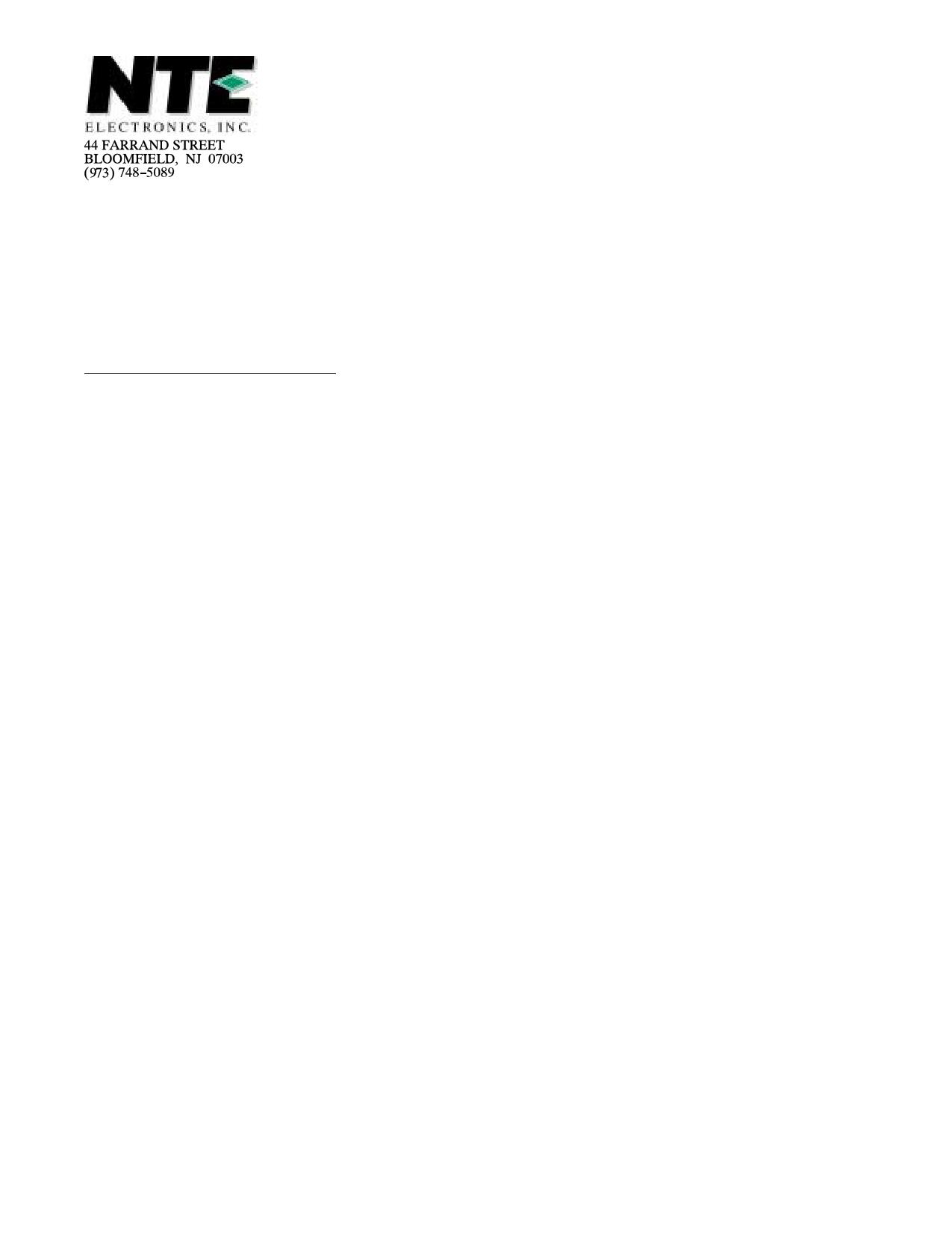 NTE5591 دیتاشیت PDF