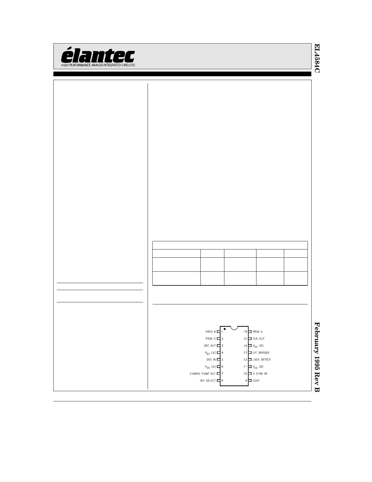 EL4584C دیتاشیت PDF