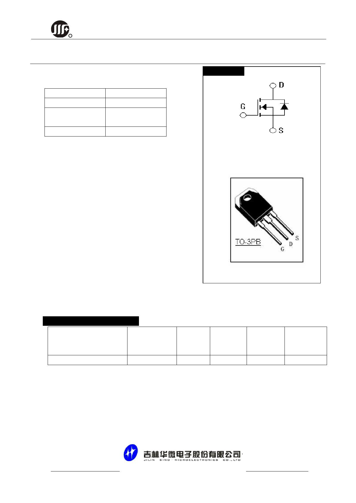 JCS65N20T datasheet