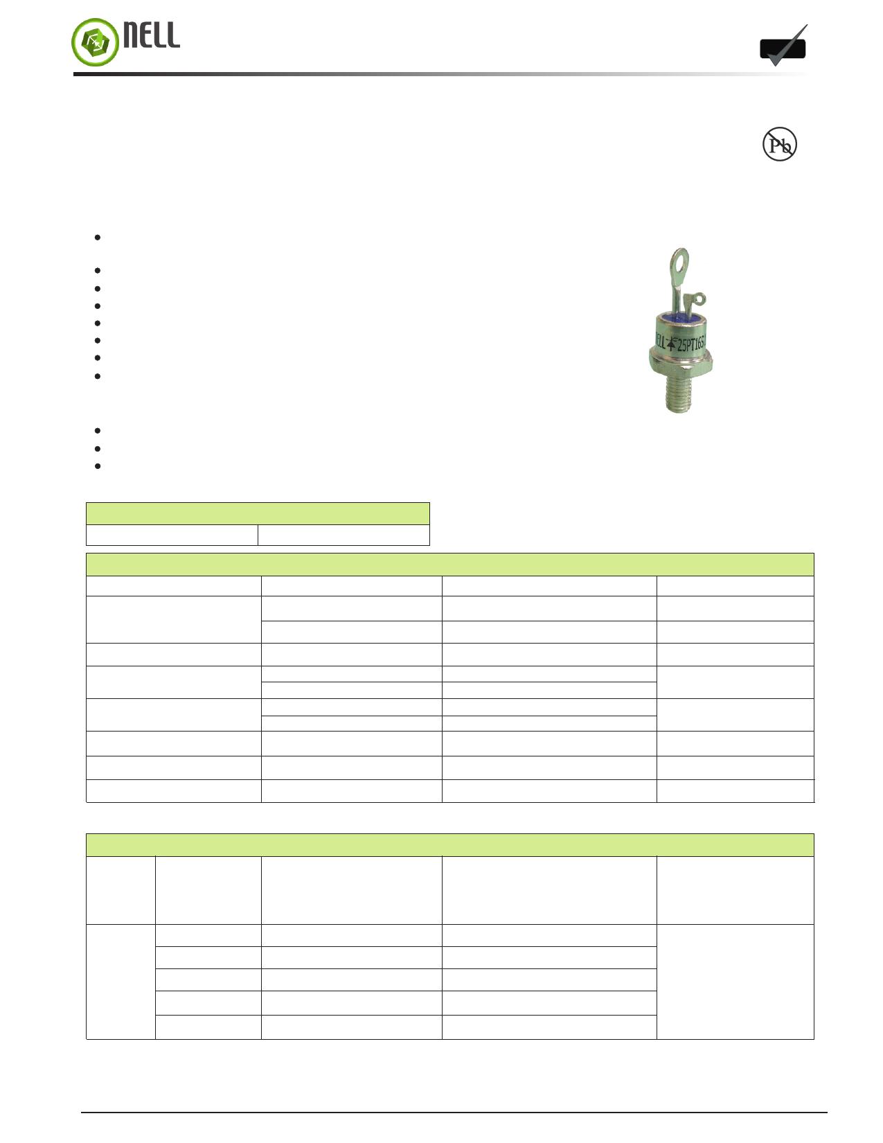 25PTS Datasheet