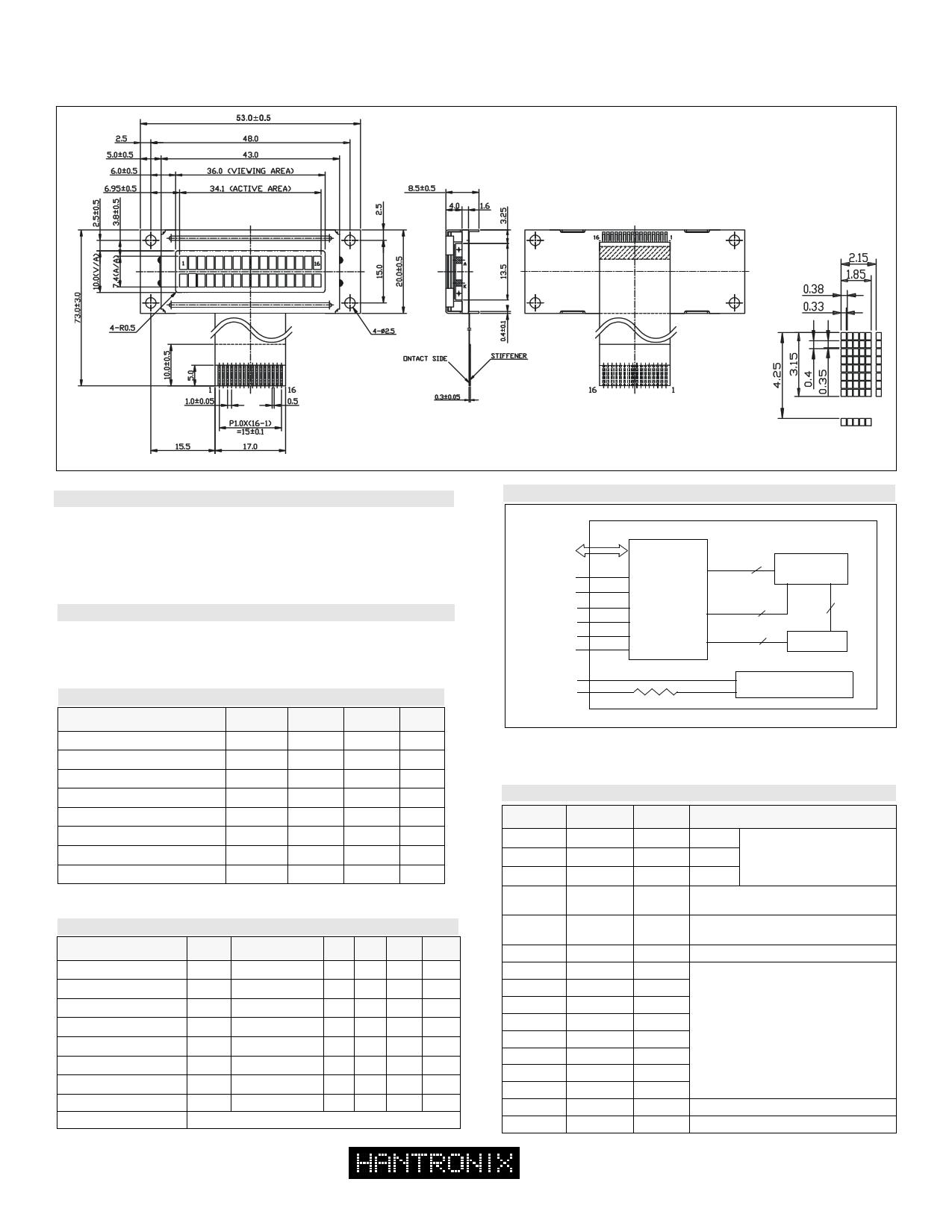 HDM16216ls دیتاشیت PDF