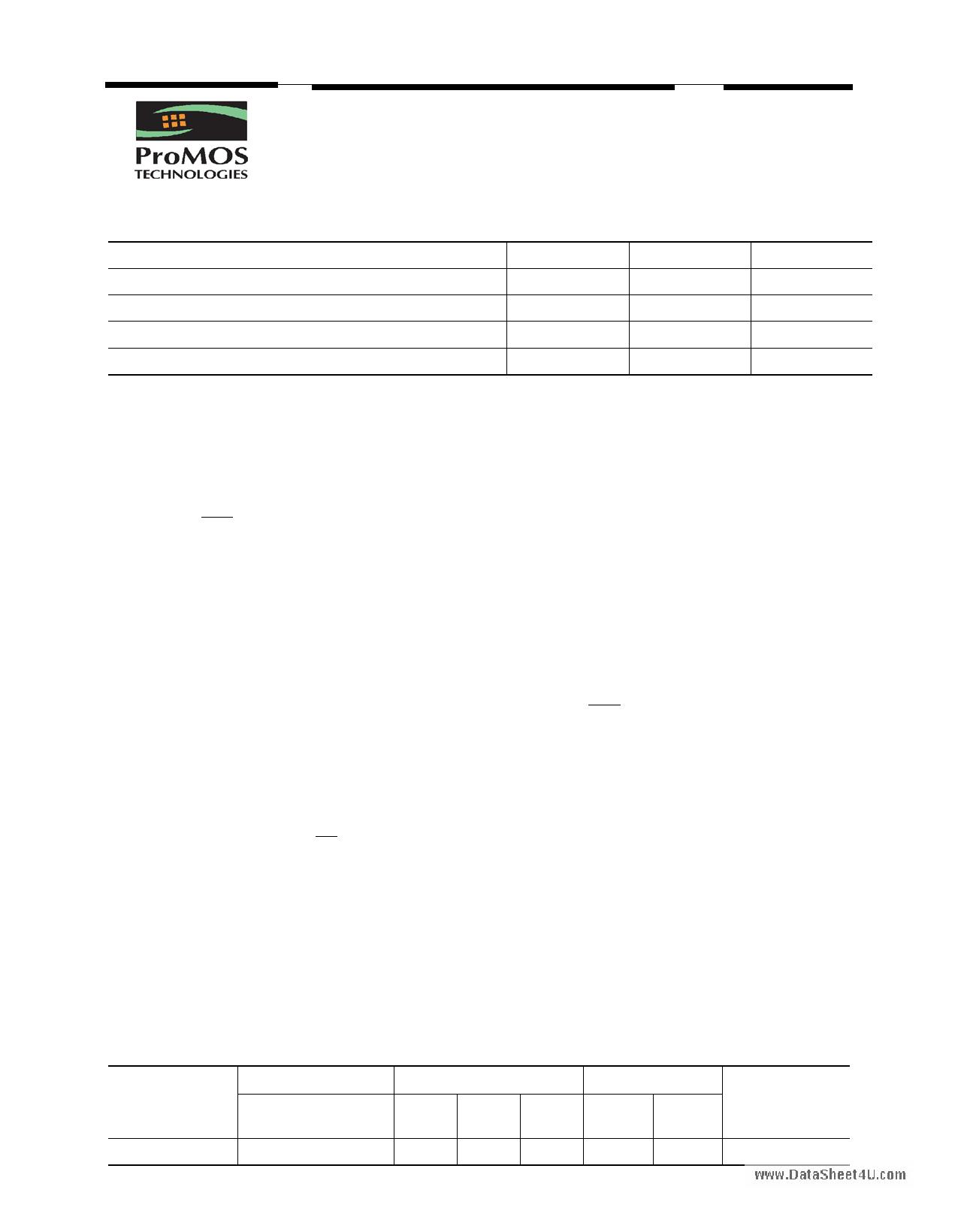 V58C2512164SB datasheet