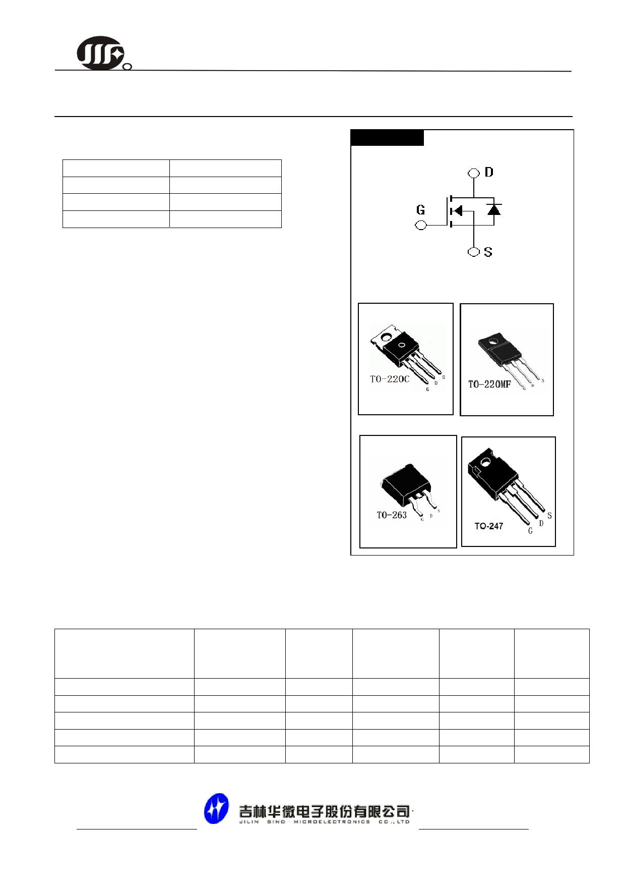 JCS80N10WF datasheet