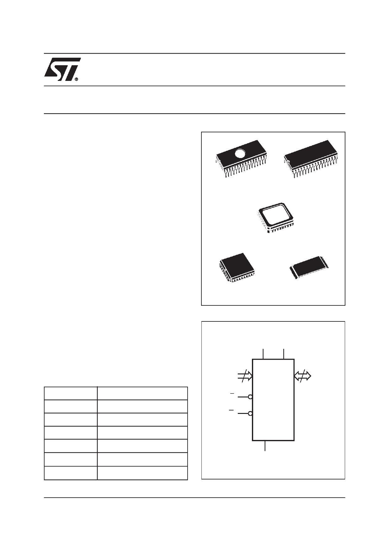 M27C4001-80C1X دیتاشیت PDF