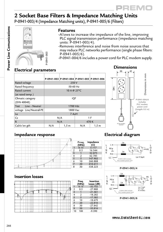 P-0941-00X دیتاشیت PDF
