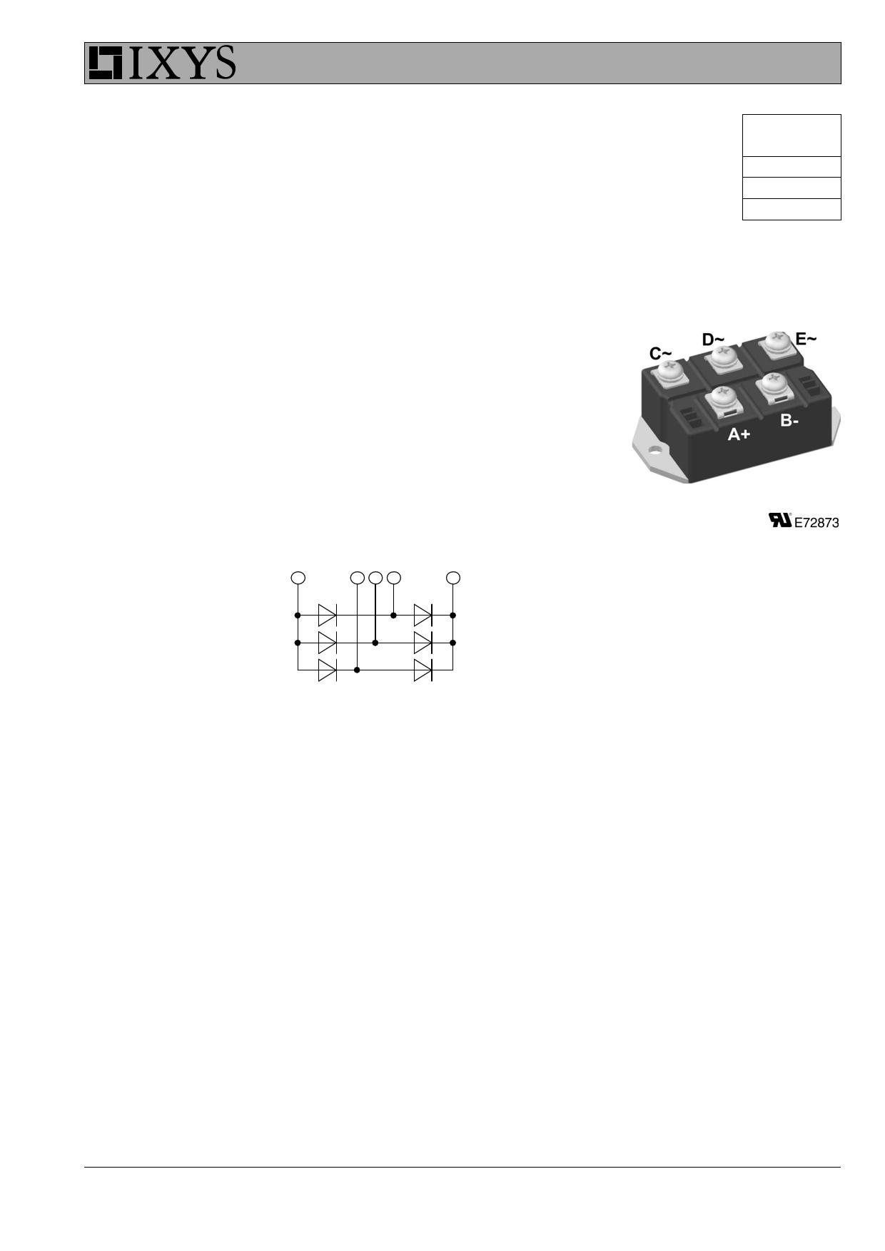 VUO110-08NO7 datasheet