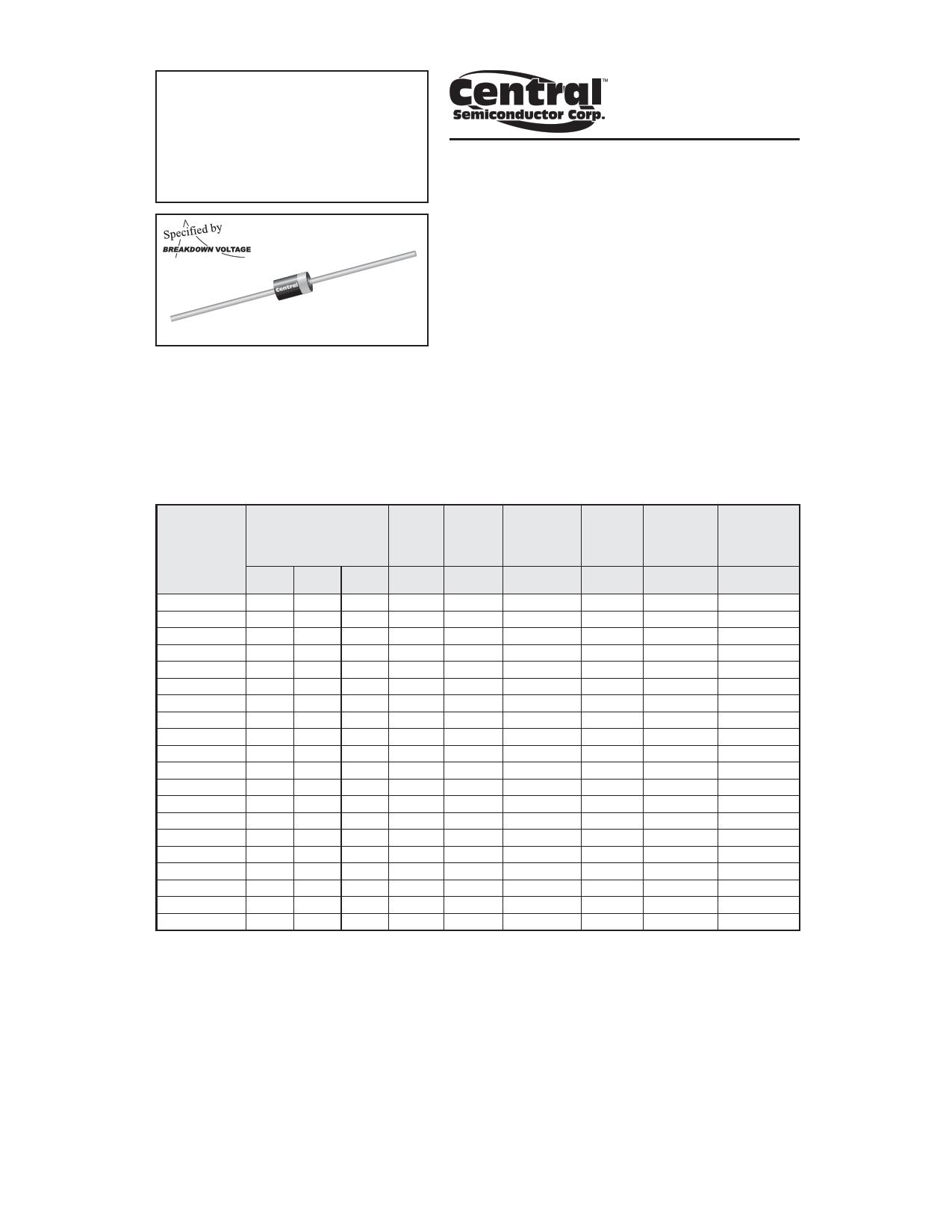 1.5CE160CA datasheet