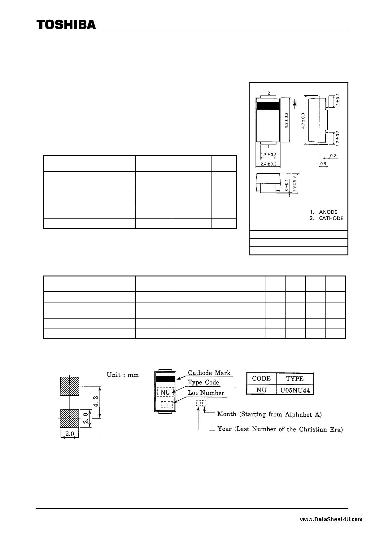 U05NU44 Hoja de datos, Descripción, Manual