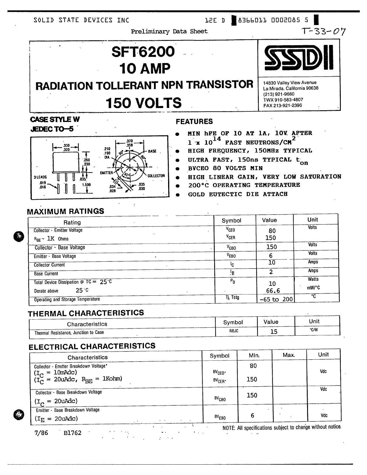 SFT6200 دیتاشیت PDF