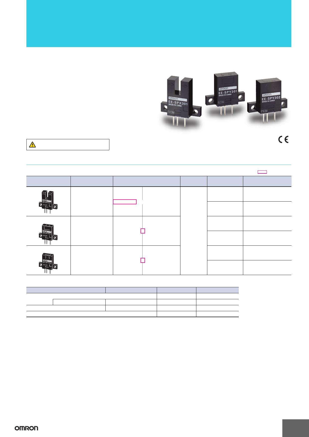 EE-SPX301 دیتاشیت PDF