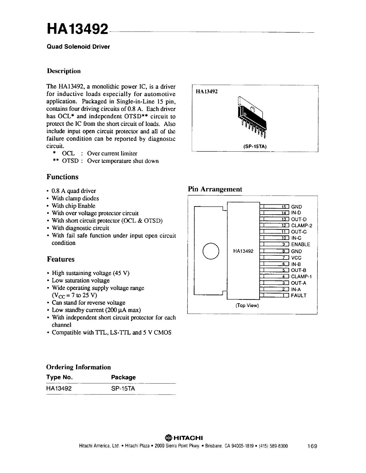 HA13492 دیتاشیت PDF
