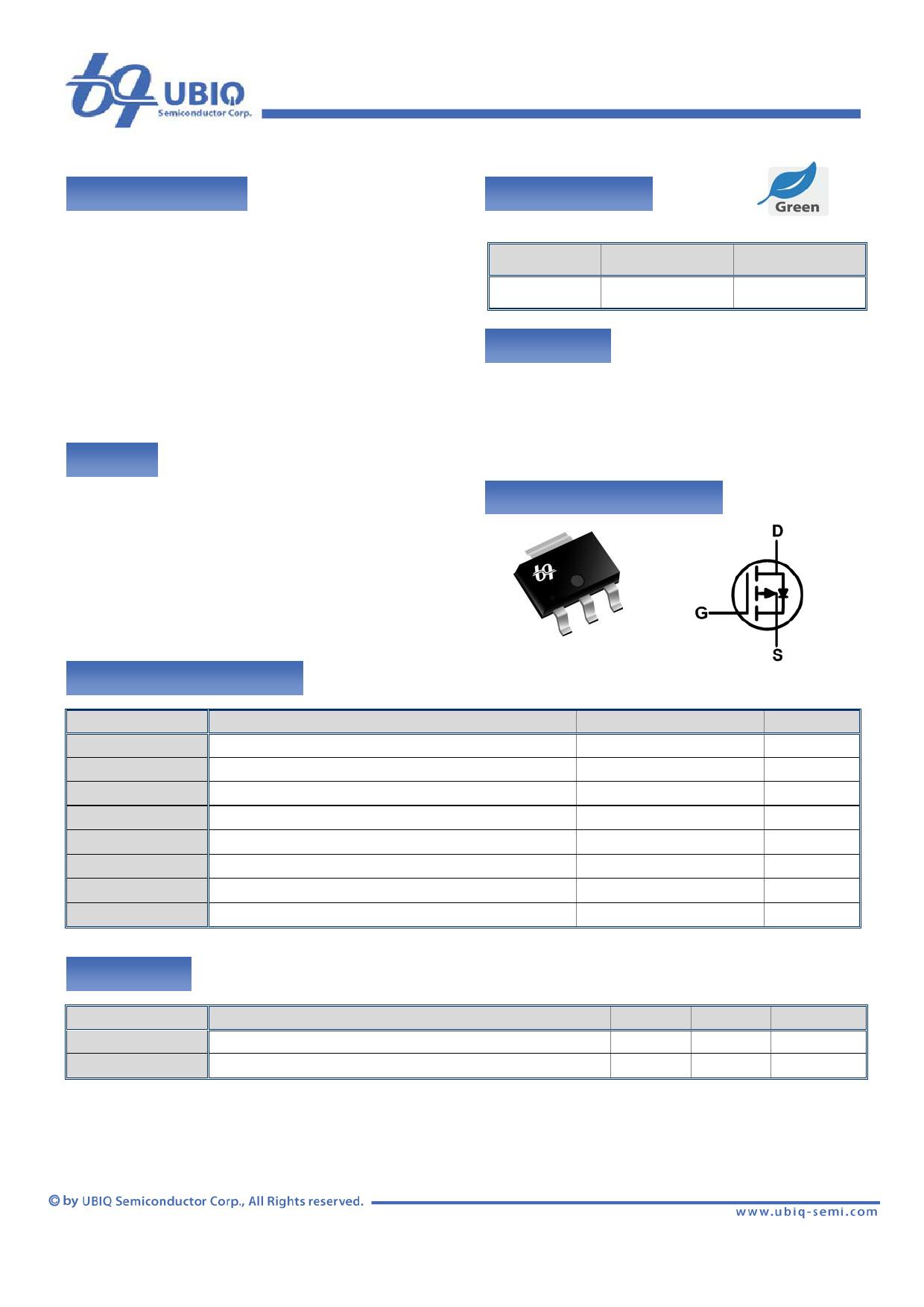 QM3003G Datenblatt PDF