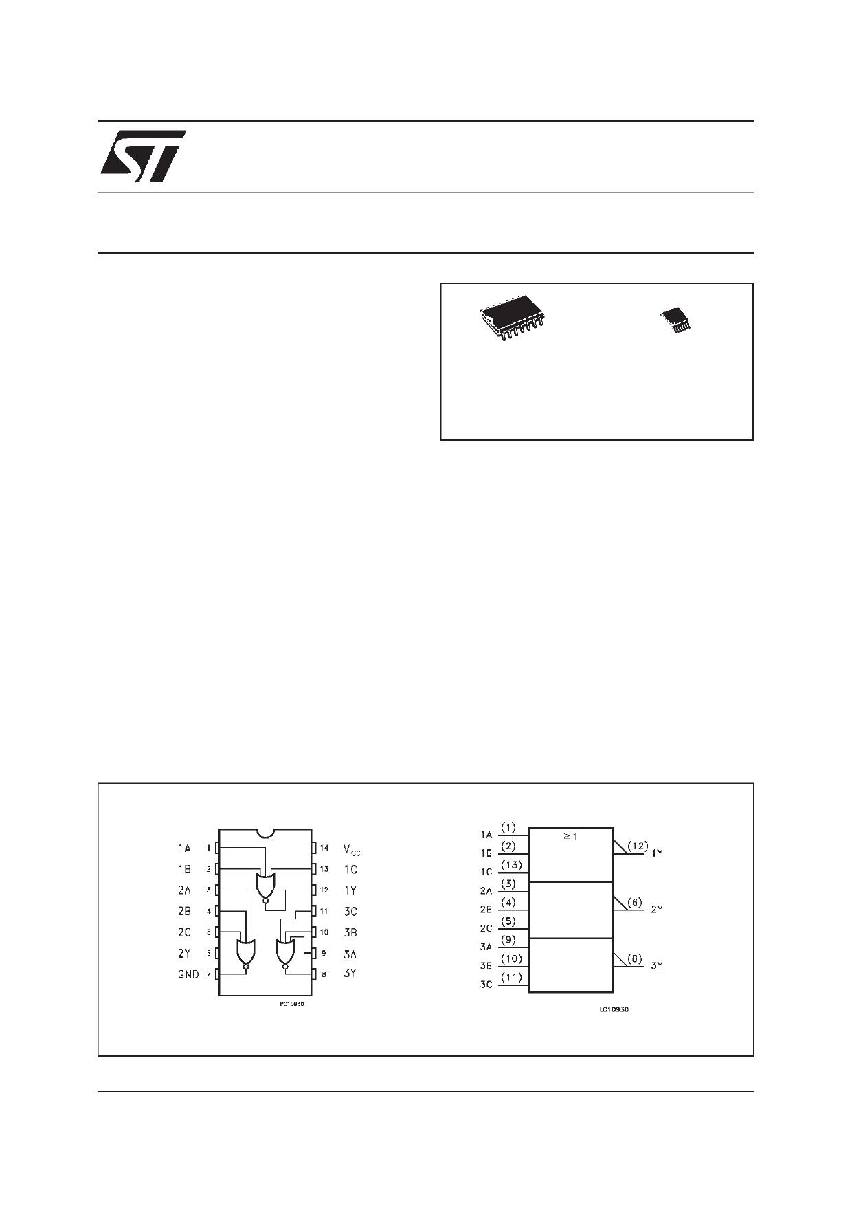 74VHC27T دیتاشیت PDF