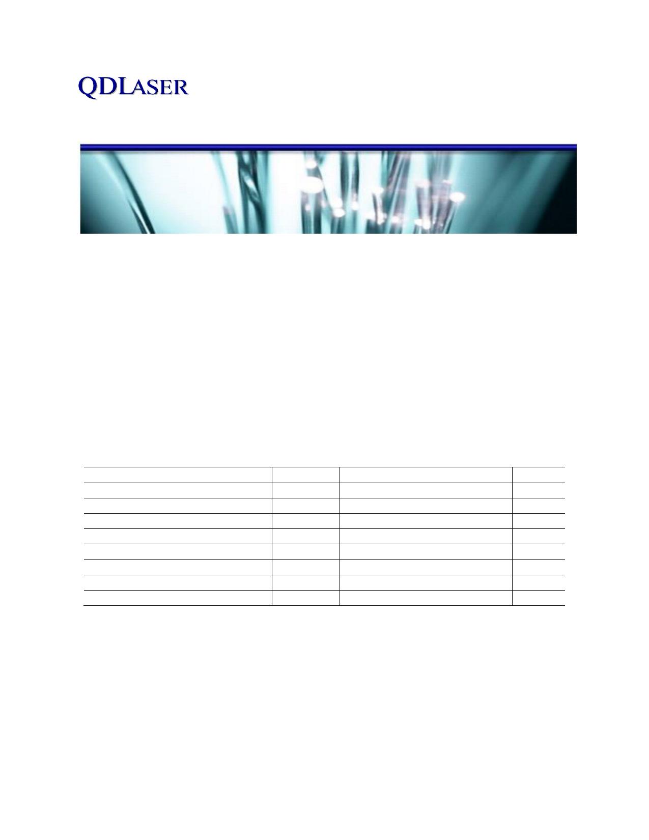 QLD1061-7030 datasheet