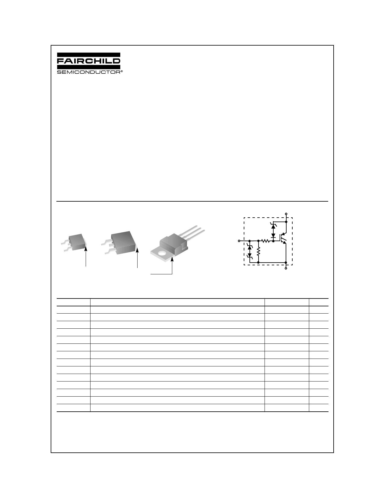 ISL9V2040D3S 데이터시트 및 ISL9V2040D3S PDF