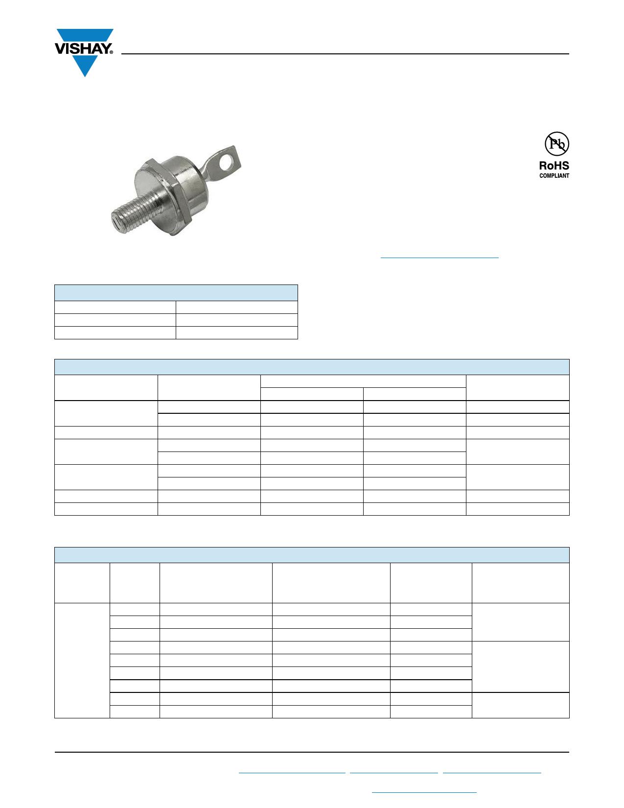 VS-72HFR160 Datasheet, VS-72HFR160 PDF,ピン配置, 機能
