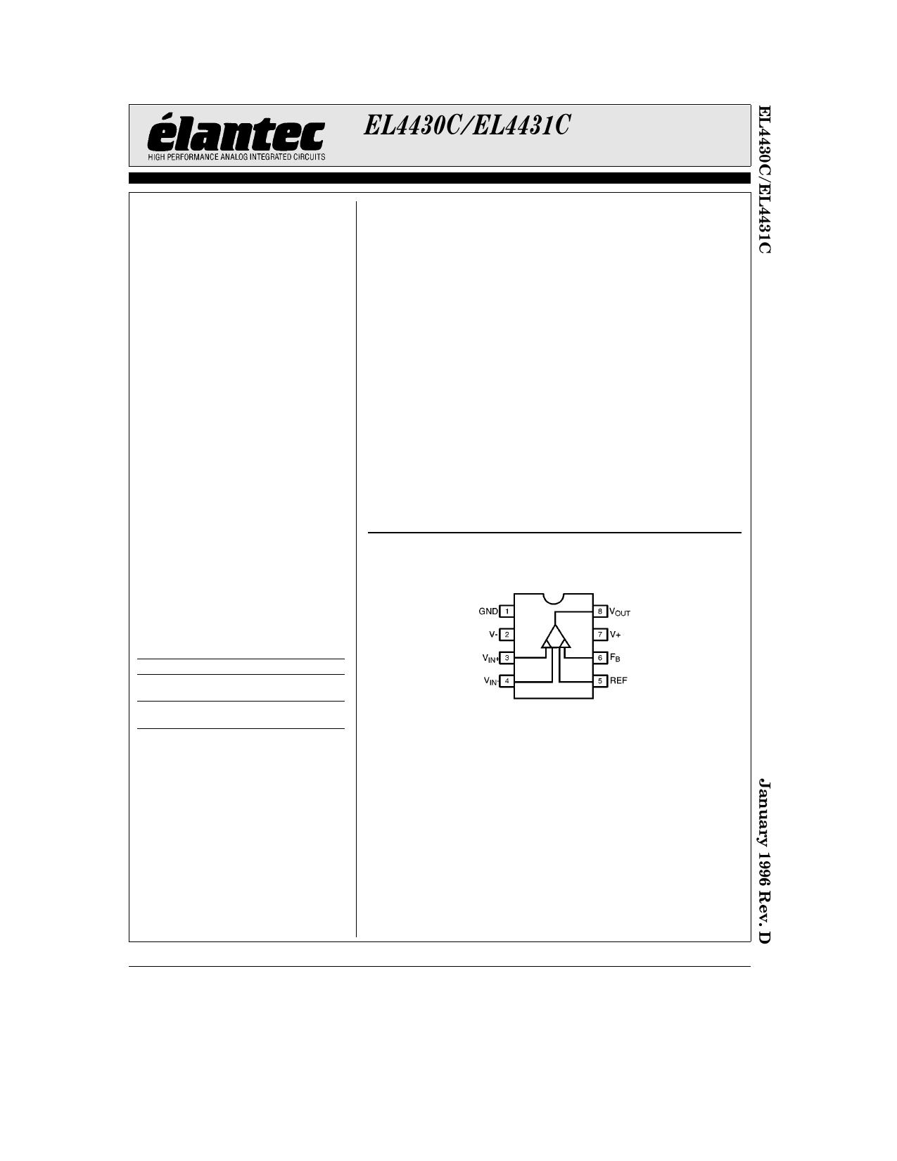 EL4430C دیتاشیت PDF