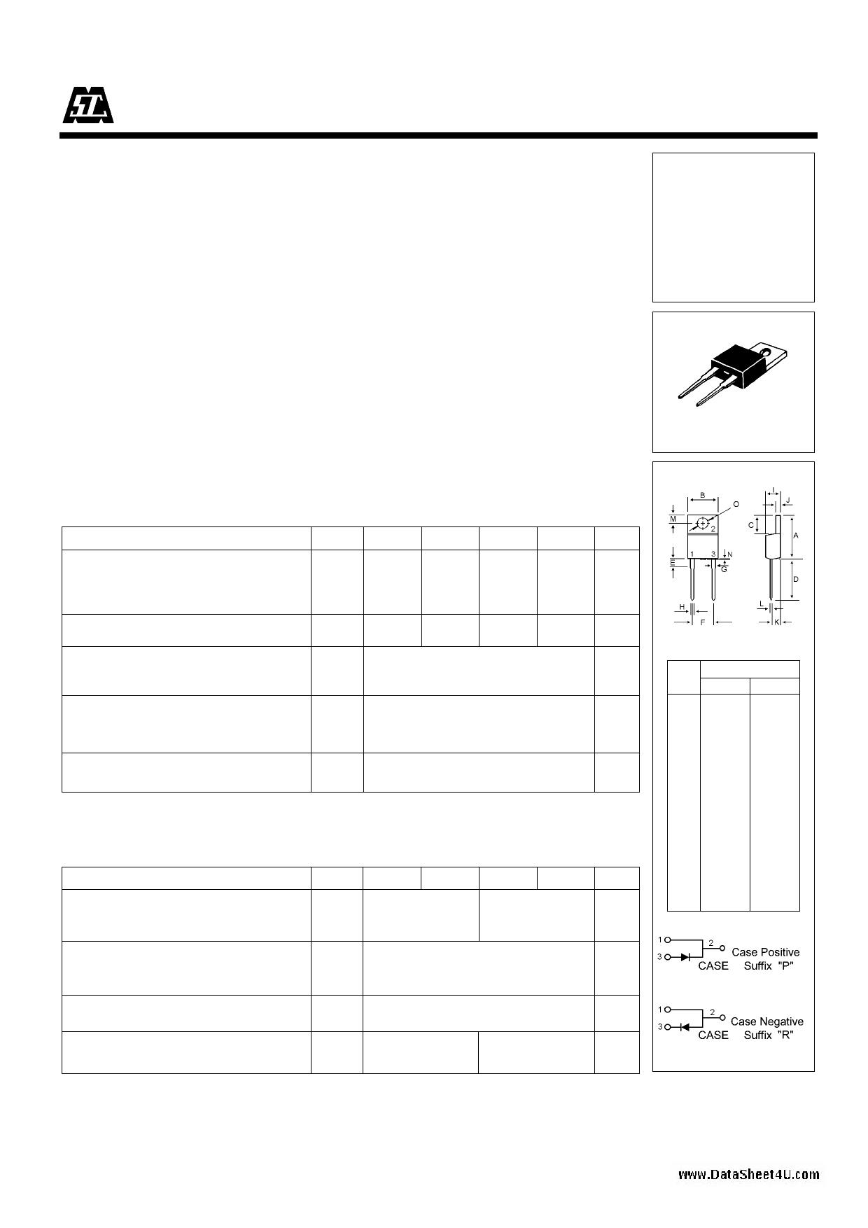 U05A60 Hoja de datos, Descripción, Manual