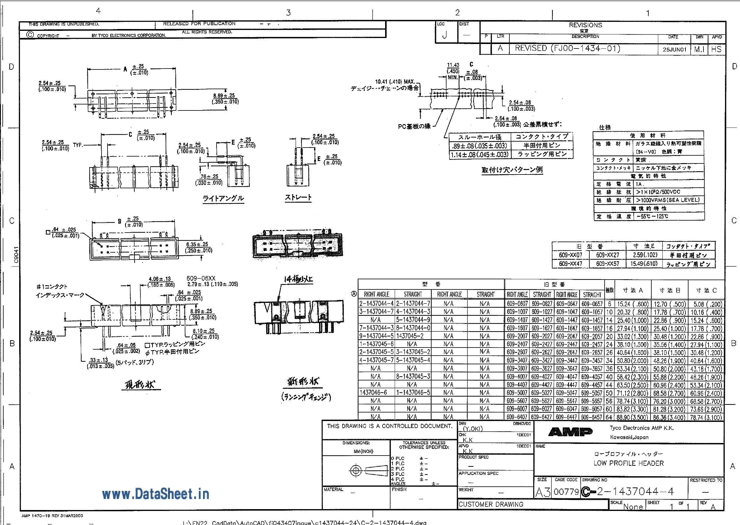 4-1437044-3 دیتاشیت PDF