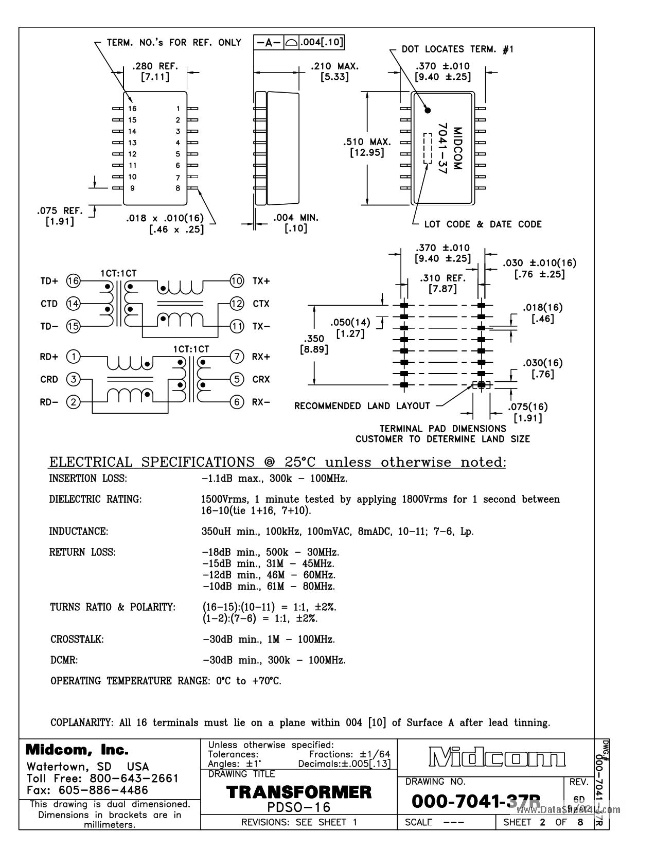 000-7041-37R دیتاشیت PDF