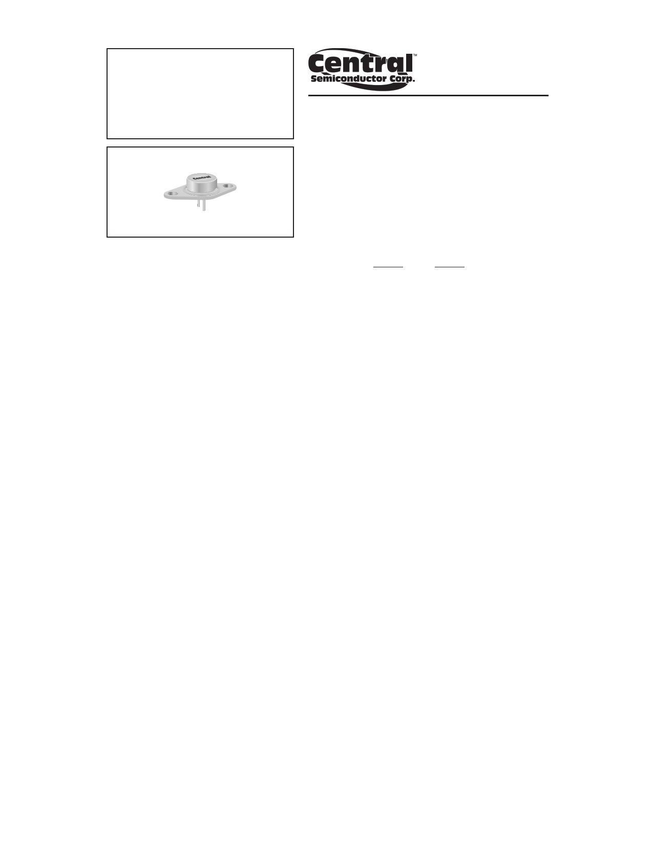 2N6301 Datasheet, 2N6301 PDF,ピン配置, 機能