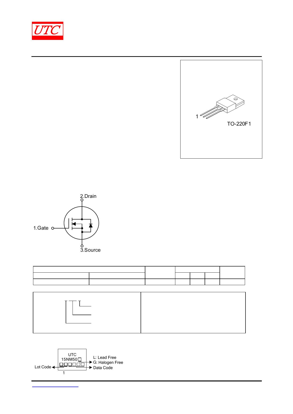 15NM50 datasheet