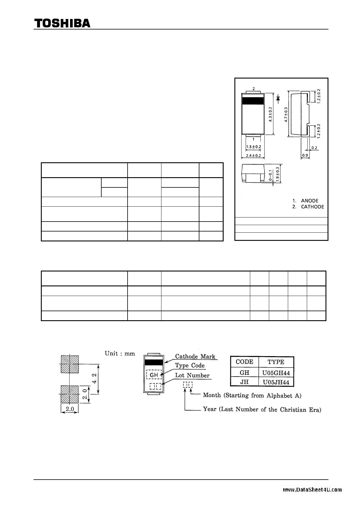 U05GH44 datasheet