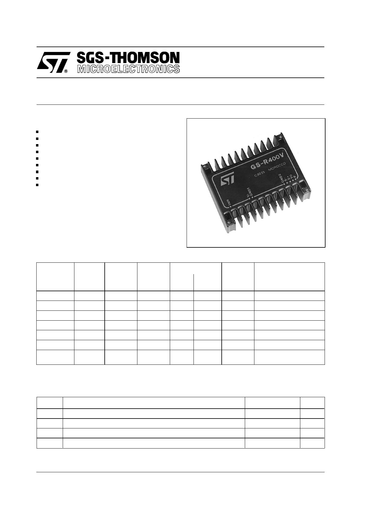GS-R415 Datasheet, GS-R415 PDF,ピン配置, 機能