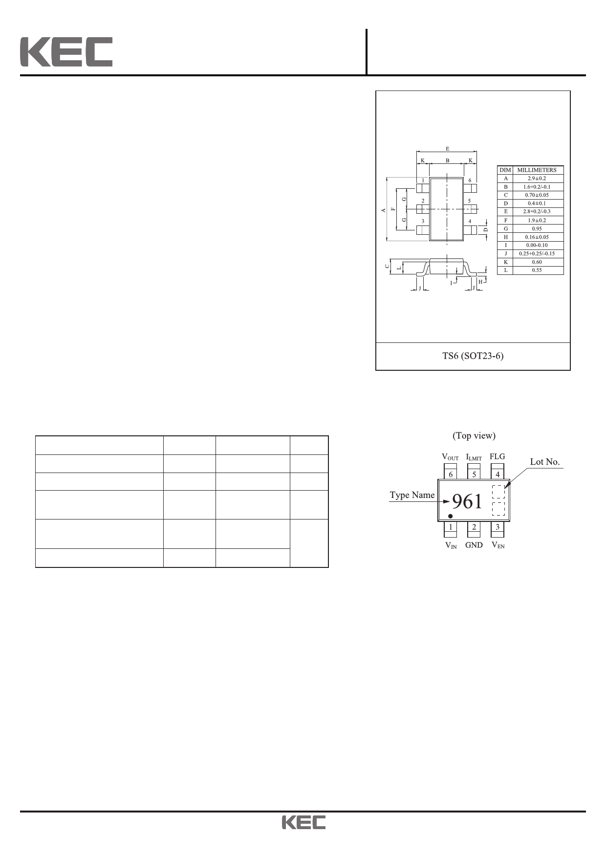 KIC6961T Datasheet, KIC6961T PDF,ピン配置, 機能