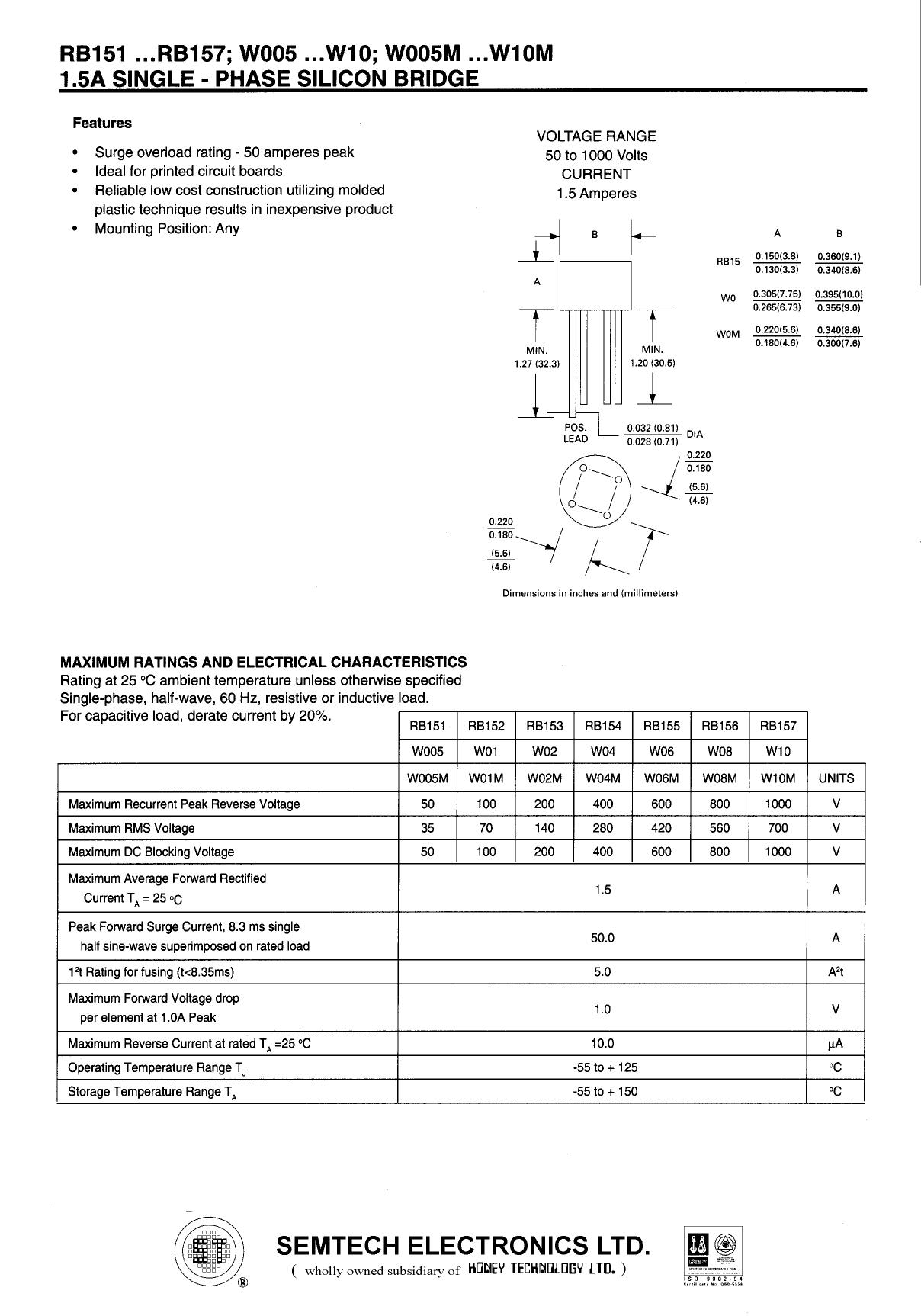 W005 دیتاشیت PDF