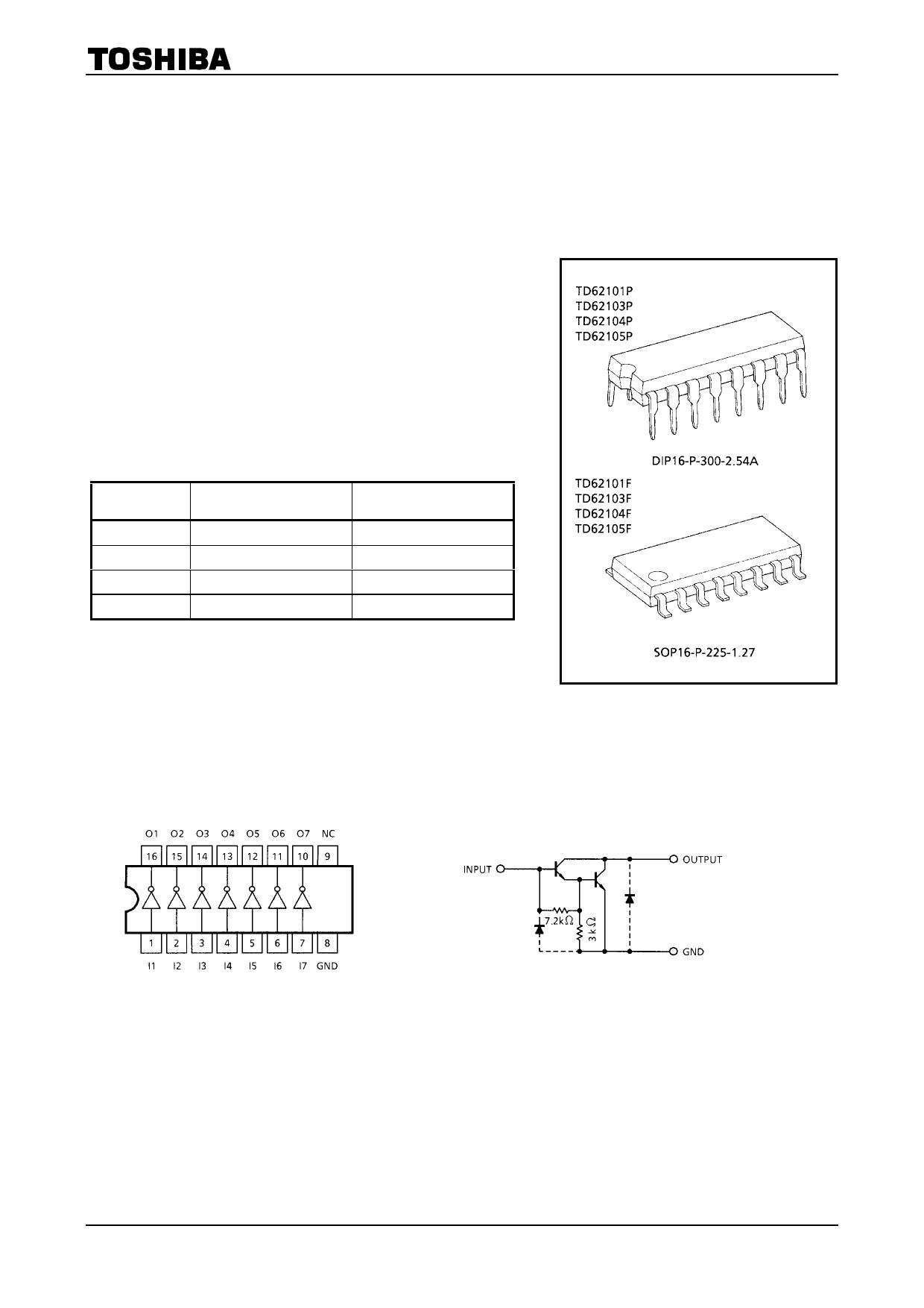 TD62101F دیتاشیت PDF