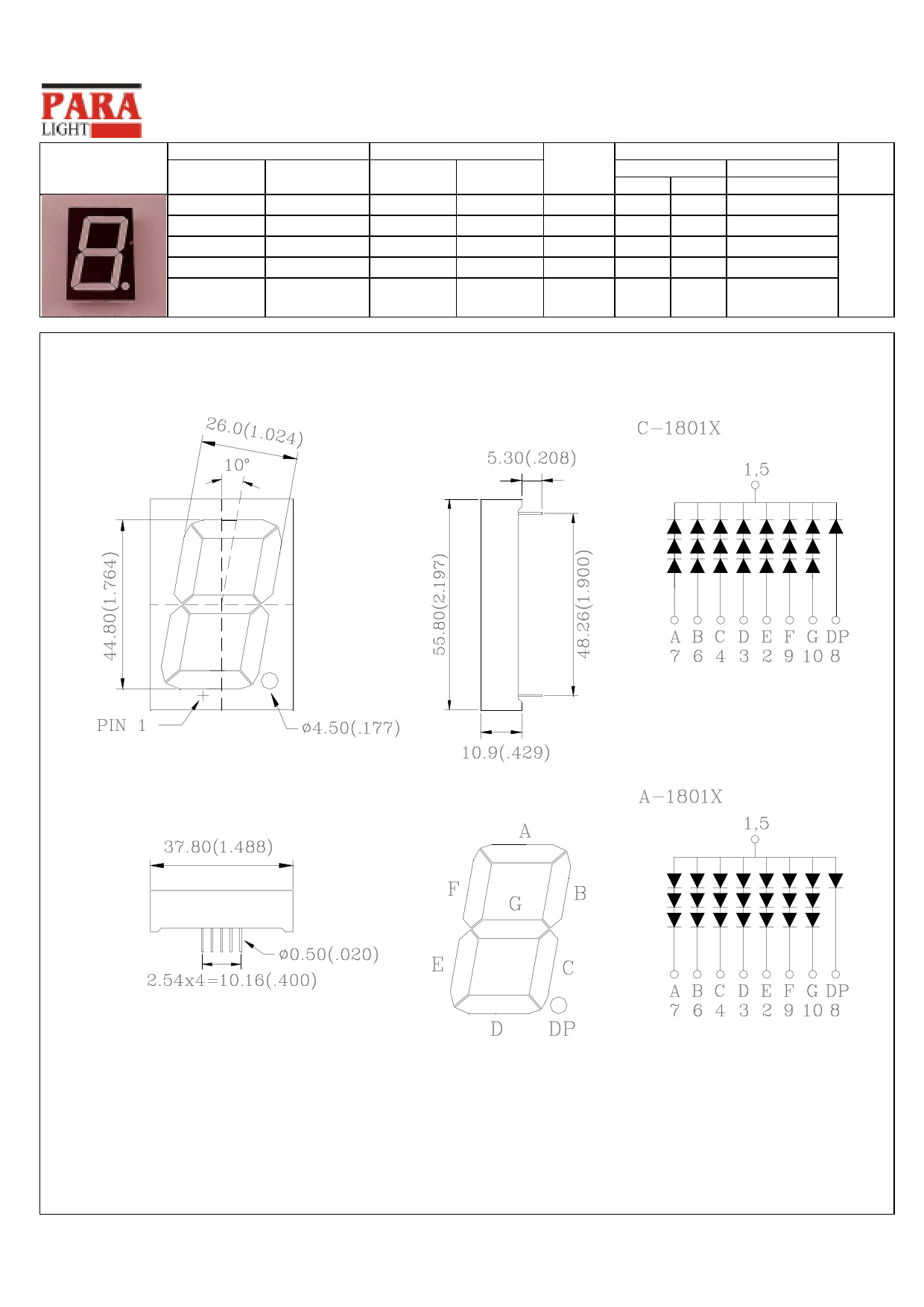 C-1801G Hoja de datos, Descripción, Manual