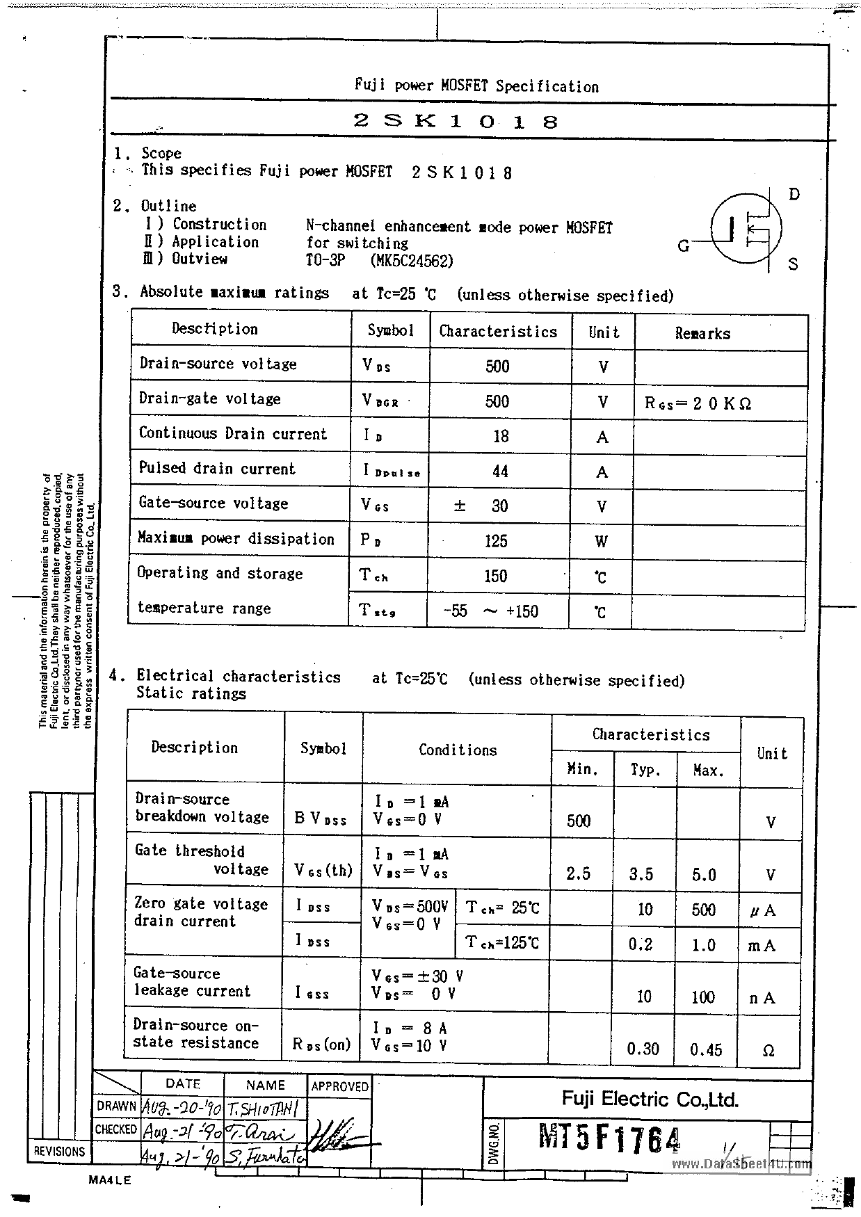 K1018 datasheet
