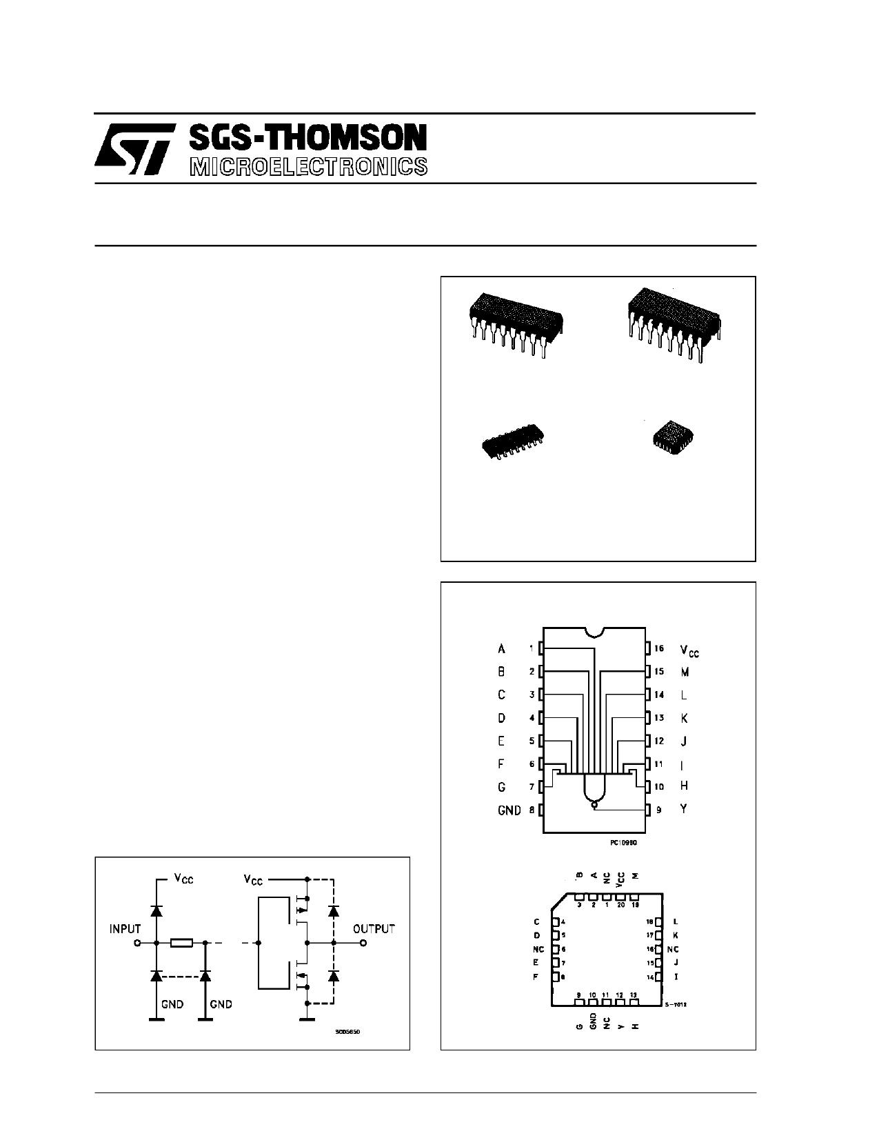 M54HC133F1R دیتاشیت PDF