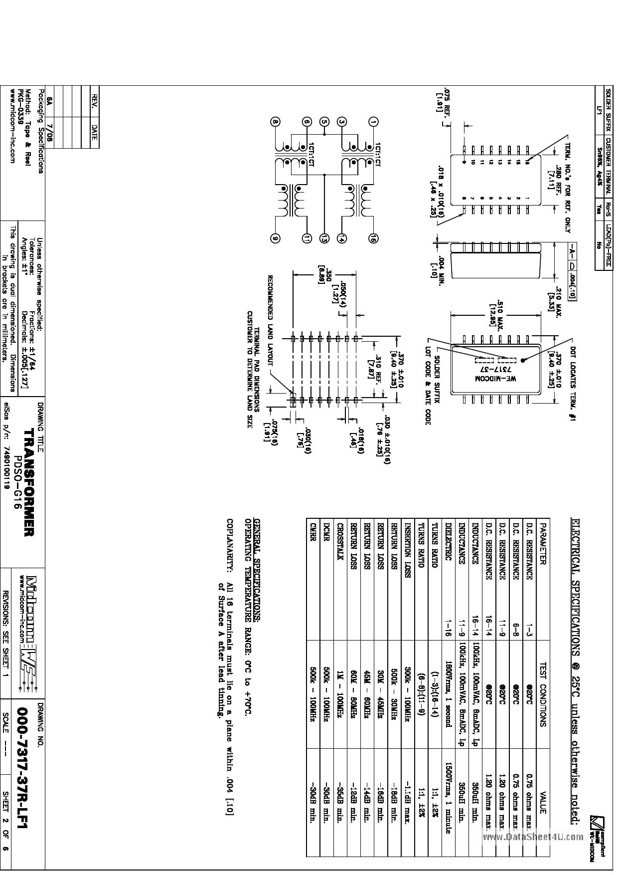 000-7317-37R-LF1 دیتاشیت PDF