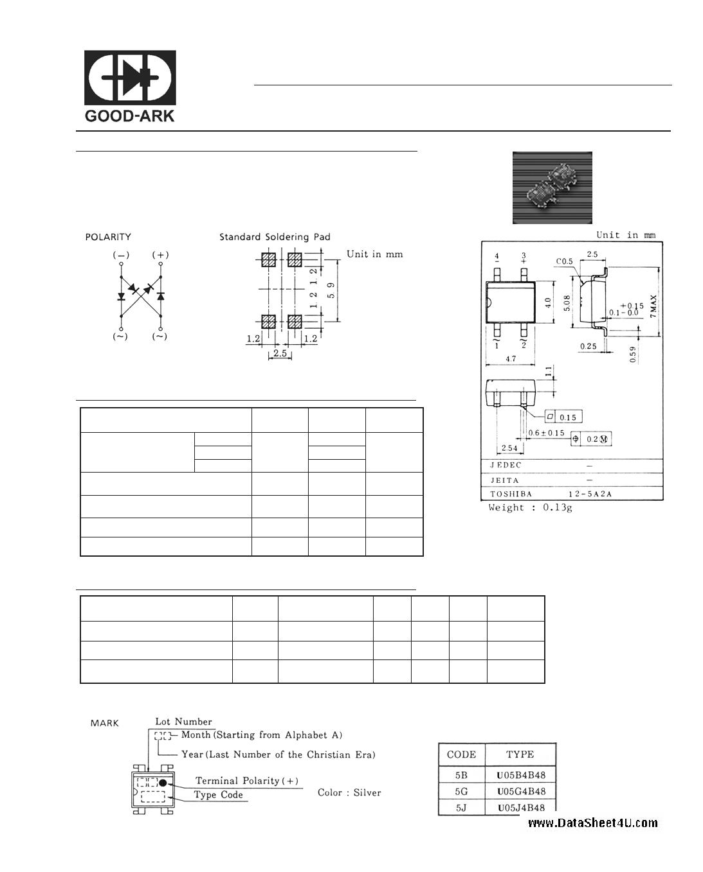 U05J4B48 datasheet