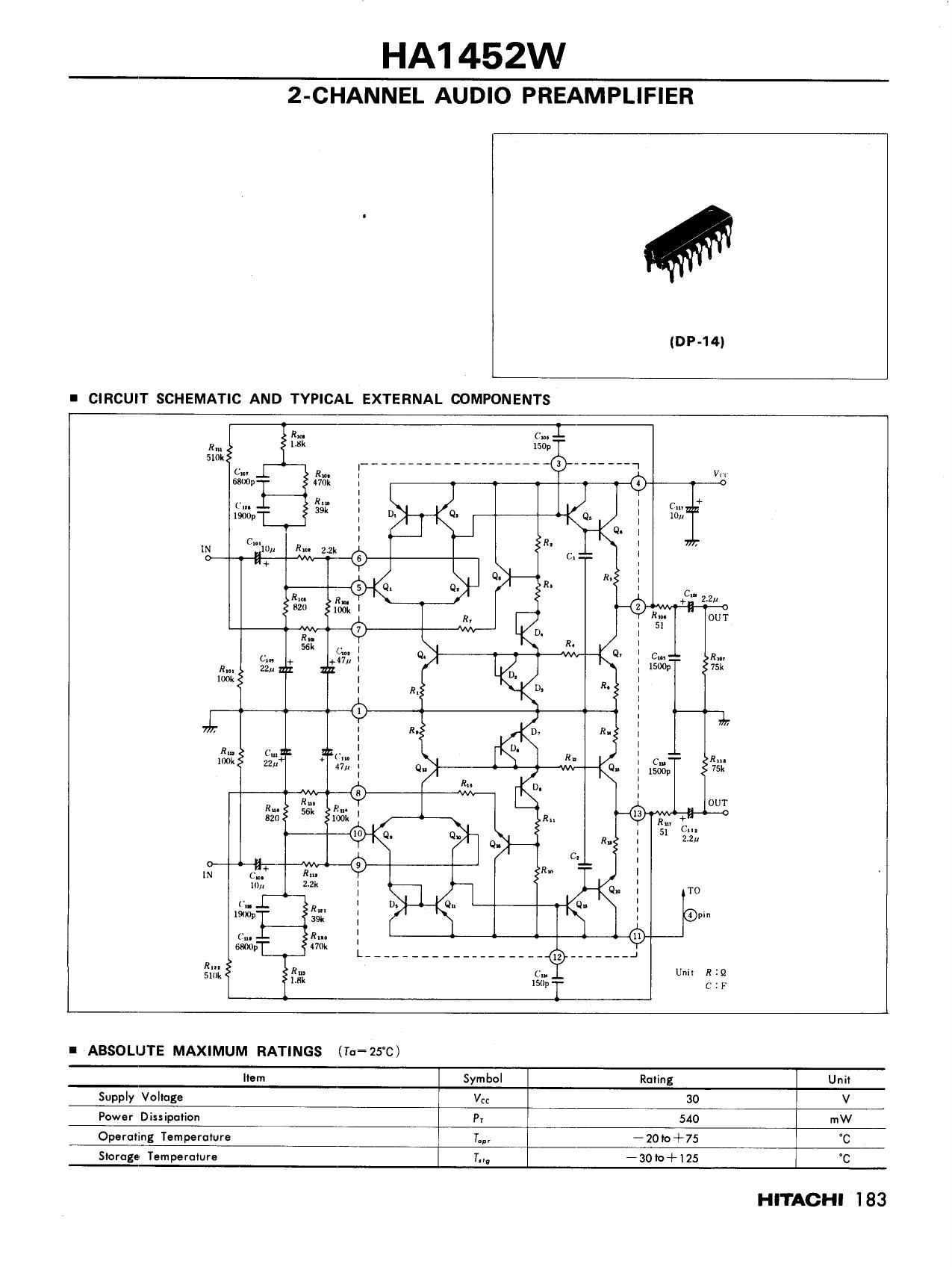 HA1452W دیتاشیت PDF