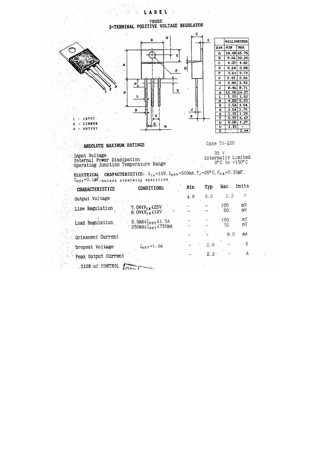 7805C دیتاشیت PDF