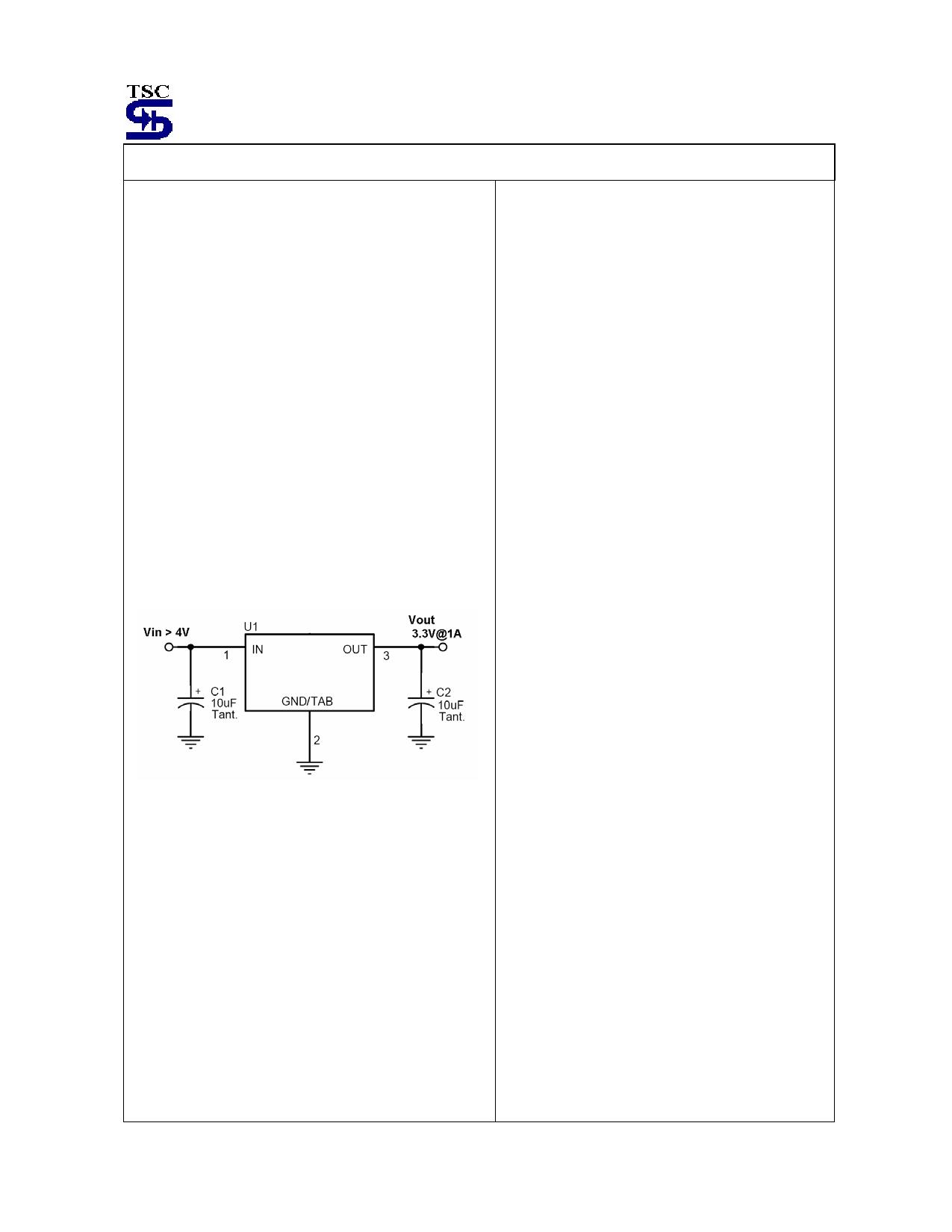 TS2940 pdf, ピン配列