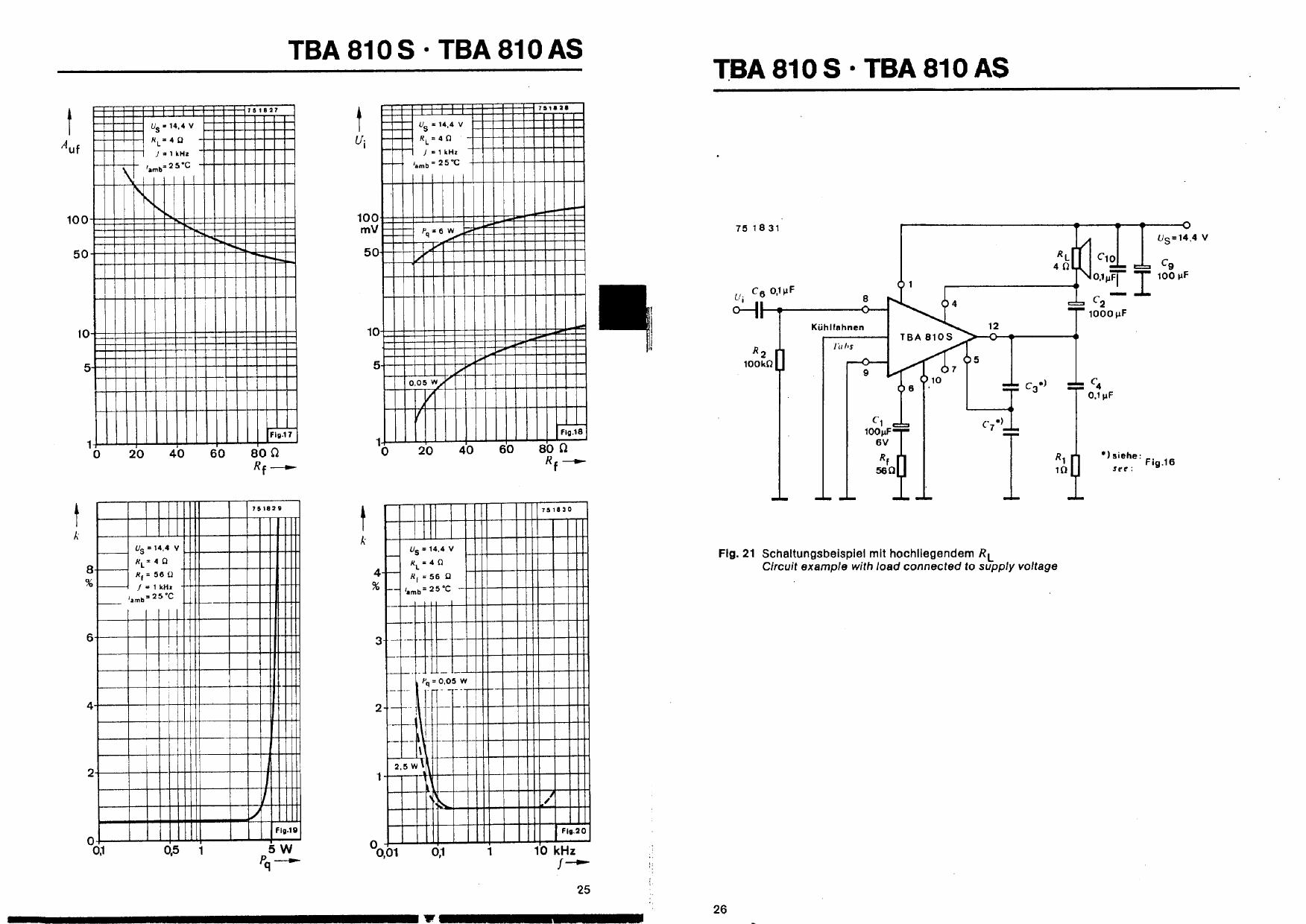 tba810as datasheet pdf   pinout