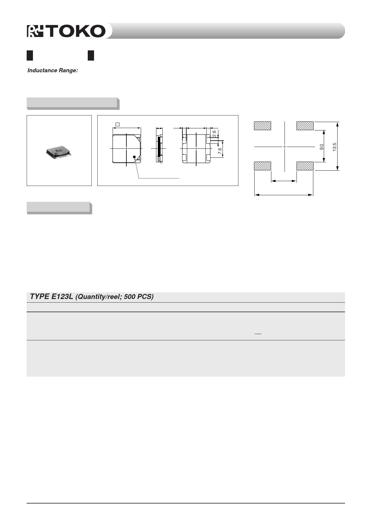 E123L دیتاشیت PDF