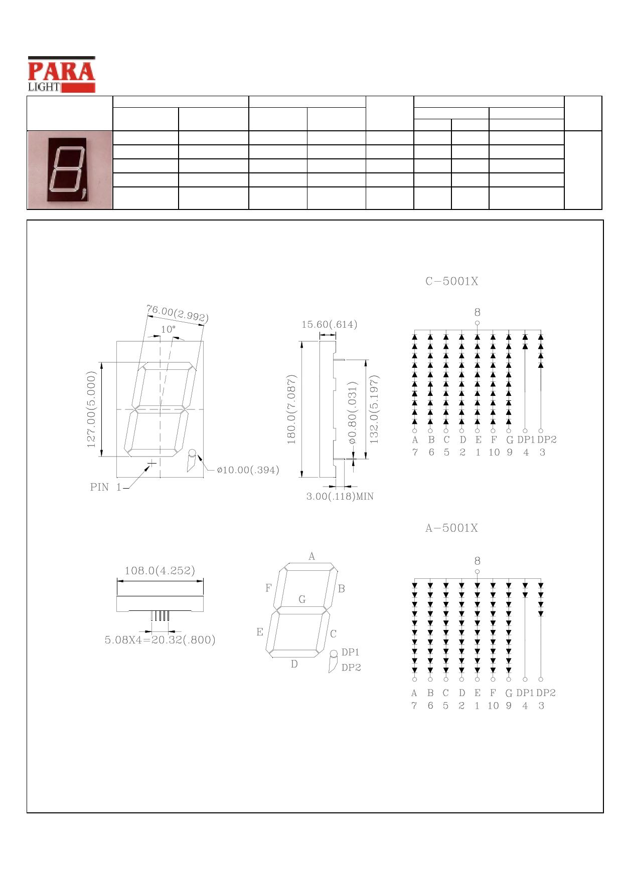 C-5001X دیتاشیت PDF