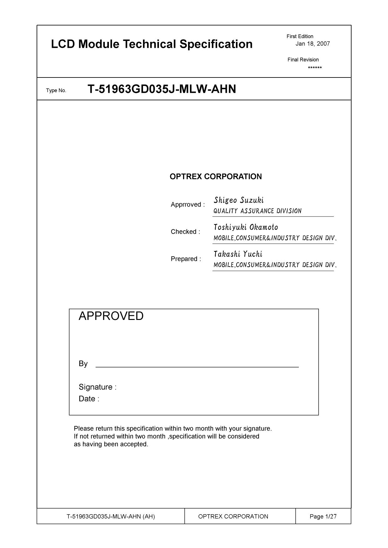 T-51963GD035J-MLW-AHN datasheet