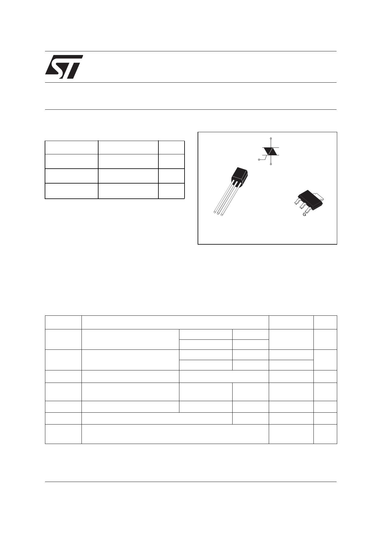 Z0103SN دیتاشیت PDF