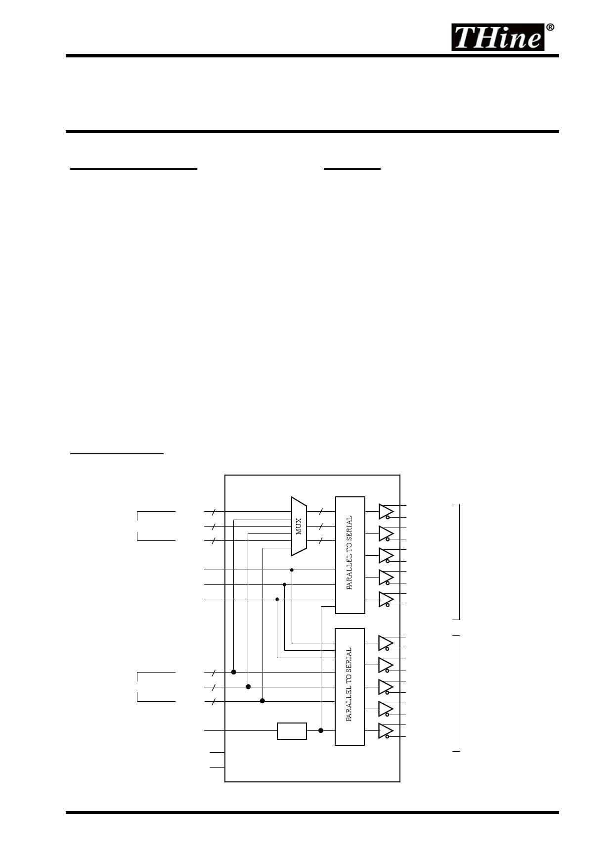 THC63LVD823 datasheet pinout pdf