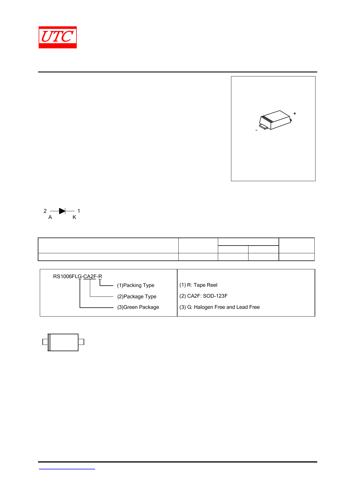 RS1006FL Datasheet, RS1006FL PDF,ピン配置, 機能