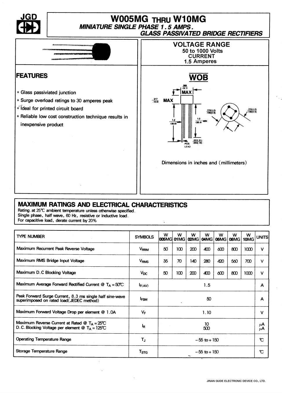 W01MG دیتاشیت PDF