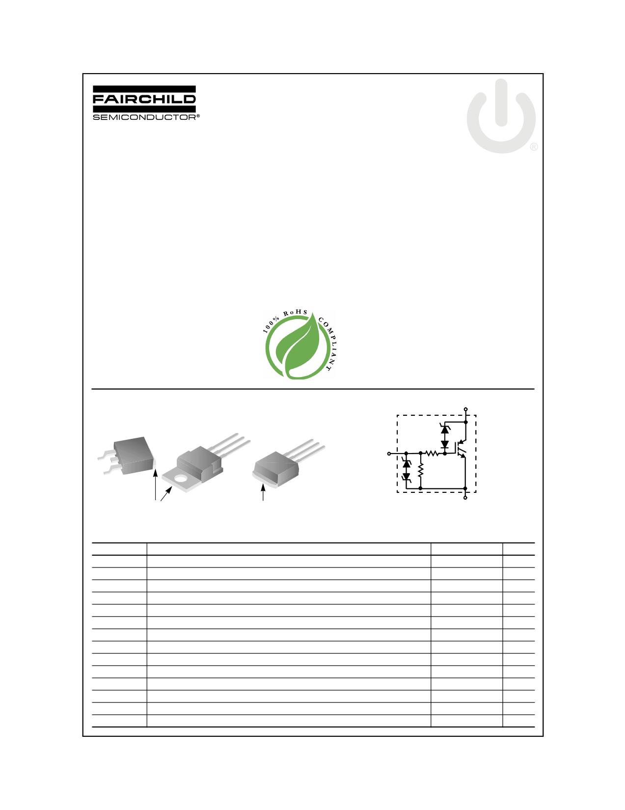 ISL9V5036P3 데이터시트 및 ISL9V5036P3 PDF